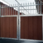 Partially Clad Privacy Gates